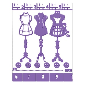 Couture Creations Embossing Folders - Measure Me Up - Who What Wear Collection
