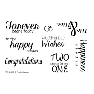 Frantic Stamper Clear Stamp Set - Wedding Wishes