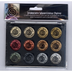 Creative Expressions Cosmic Shimmer Iridescent Watercolour Pallet Set  - Metallics