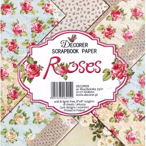 "Decorer  8"" X 8"" Scrapbook Paper Set - Roses"