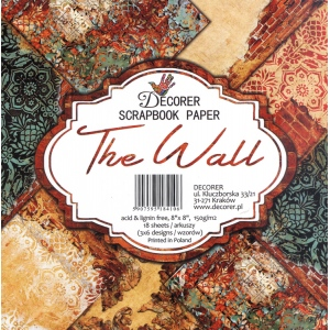 "Decorer  8"" X 8"" Scrapbook Paper Set - The Wall"