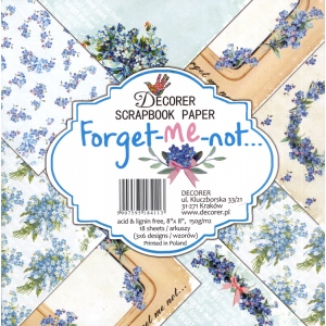 "Decorer   8"" X 8"" Scrapbook Paper Set - Forget-Me-Not"