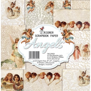 "Decorer  8"" X 8"" Scrapbook Paper Set - Angels"