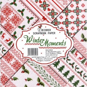 "Decorer  8"" X 8"" Scrapbook Paper Set - Winter Moments"