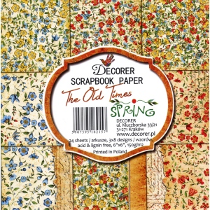 "Decorer  6"" X 6"" Scrapbook Paper - The Old Times - Spring"