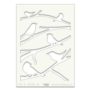 Claritystamp  - Stencil - Birds On A Branch