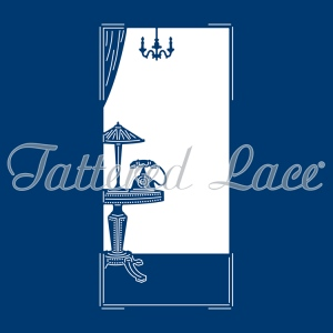Tattered Lace  Die - Art Deco Telephone And Table