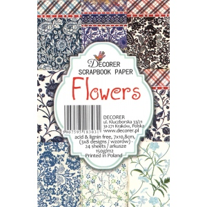 "Decorer  2.75"" X 4.25"" Scrapbook Set Mini - Flowers"