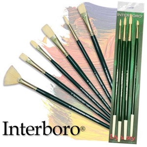Dynasty® Interboro® Bristle Oil & Acrylic Brush Round