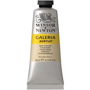 Winsor & Newton™ Galeria™ Acrylic Color 60ml Buff Titanium: Metallic, Tube, 60 ml, Acrylic, (model 2120060), price per tube
