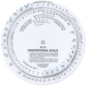 "Westcott® C-Thru® 6"" Proportional Scale: White/Ivory, Plastic, 6"", (model PS79), price per each"