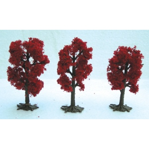"Wee Scapes™ Architectural Model Japanese Red Maple Trees: Red/Pink, 3-Pack, 2 1/2"" - 3"", Tree, (model WS00331), price per 3-Pack"