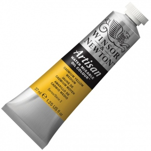 Winsor & Newton™ Artisan Water Mixable Oil Color 37ml Cadmium Yellow Medium: Yellow, Tube, 37 ml, Oil, (model 1514116), price per tube