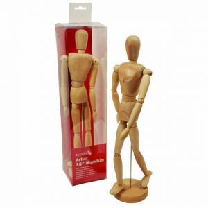 "Reeves™ Wooden Manikin 16"": Wood, 16"", Human, (model 8490802), price per each"