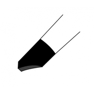 Colour Shaper® Black Tip Cup Chisel Brush #6: Silicone, Cup Chisel, Firm, (model 14306), price per each
