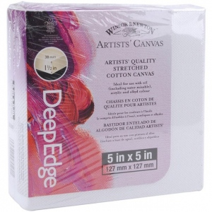 "Winsor & Newton™ Artists' Stretched Canvas Deep Edge Cotton 5"" x 5"": 5"" x 5"", 1 1/2"", Stretched, (model 6015097), price per each"