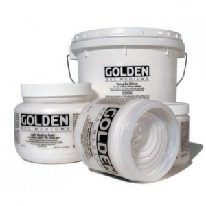 Golden® Semi-Gloss Soft Gel Medium 16 oz.: Semi-gloss, 16 oz, 473 ml, Gel, (model 0003017-6), price per each