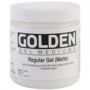 Golden® Regular Gel Medium Matte 8 oz.: Matte, 236 ml, 8 oz, Gel, (model 0003030-5), price per each