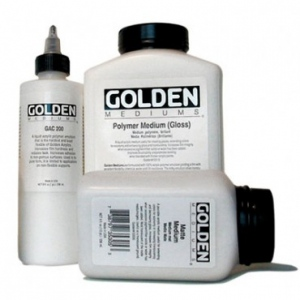 Golden® Polymer Gloss Medium 128 oz.: 128 oz, 3.78 ltr, Acrylic Painting, (model 0003510-8), price per each
