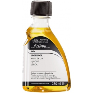 Winsor & Newton™ 250ml Water Mixable Linseed Oil: 75 ml, Linseed Oil, (model 3239723), price per each