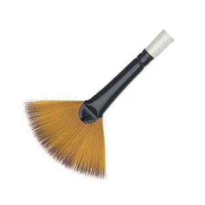 Daler-Rowney Simply Simmons Synthetic Acrylic/Multimedia Brush Fan Blender 4: Short Handle, Bristle, Fan, Acrylic, Multimedia
