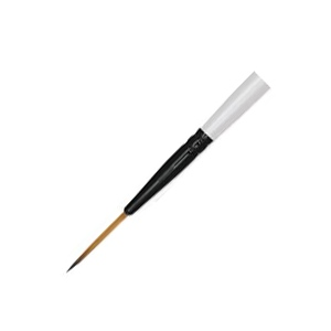 Daler-Rowney Simply Simmons Synthetic Acrylic/Multimedia Brush Script 3: Short Handle, Bristle, Script, Acrylic, Multimedia, (model SS255050003), price per each