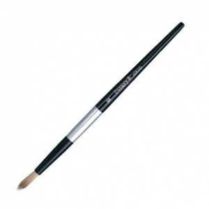 Dynasty® Black Silver® Blended Synthetic Watercolor Brush Round 10: Short Handle, Bristle, Round, Watercolor