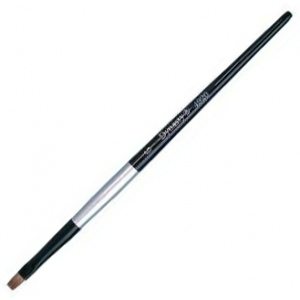 Dynasty® Black Silver® Blended Synthetic Watercolor Brush Bright 6: Short Handle, Bristle, Bright, Watercolor