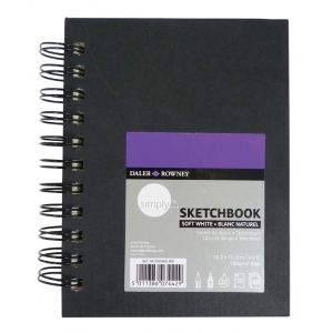 Cachet® Simply™ Sketchbook: Soft White Paper, Wirebound