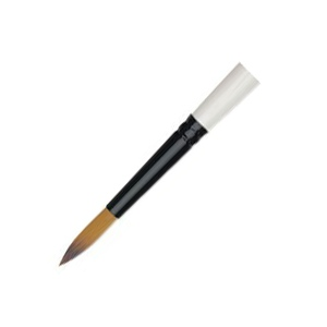 Daler-Rowney Simply Simmons Synthetic Acrylic/Multimedia Brush Round 12: Short Handle, Bristle, Round, Acrylic, Multimedia, (model SS255085012), price per each
