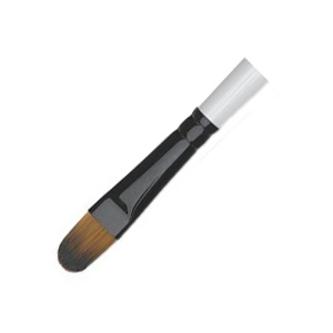 Daler-Rowney Simply Simmons Synthetic Acrylic/Multimedia Brush Filbert 2: Short Handle, Bristle, Filbert, Acrylic, Multimedia