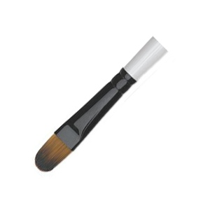 Daler-Rowney Simply Simmons Synthetic Acrylic/Multimedia Brush Filbert 12: Short Handle, Bristle, Filbert, Acrylic, Multimedia