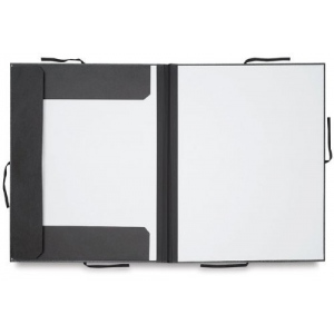 "Cachet® 20"" x 26"" Classic Portfolio with Folding Flaps: Black/Gray, Fiberboard, Paper, 20"" x 26"", (model CS471312026), price per each"