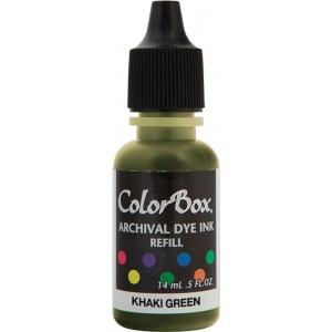 ColorBox® Archival Dye Refill Khaki Green: Green, Pad, Dye-Based, (model CS27416), price per each