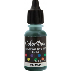 ColorBox® Archival Dye Refill Mermaid: Blue, Pad, Dye-Based