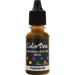 ColorBox® Archival Dye Refill Pumpkin Pie: Orange, Pad, Dye-Based, (model CS27401), price per each