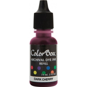 ColorBox® Archival Dye Refill Dark Cherry: Red/Pink, Pad, Dye-Based, (model CS27403), price per each