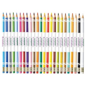 Crayola 24-Color Erasable Colored Pencil Set