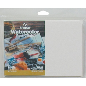 "Canson® Montval® Artist Series 5"" x 7"" Watercolor Cold Press Blank Postcards 140 lb/300g: White/Ivory, Envelope Included, Card, 15-Pack, 5"" x 7"", Cold Press, (model C100511543), price per each"