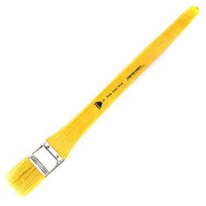 Prima White Bristle Wash with Metal Ferrule: Long Handle, Size 2
