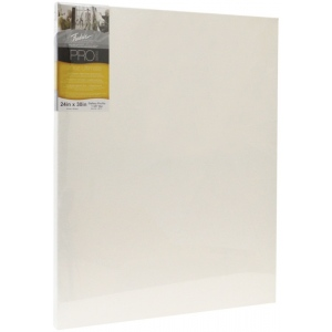 "Fredrix® PRO Ultimate 48"" x 60"" Ultimate Cotton Stretched Canvas Gallerywrap Bar 1-3/8"": White/Ivory, Sheet, 1 3/8"", Cotton, 1 3/8"", 48"" x 60"", Stretched, (model T49718), price per each"