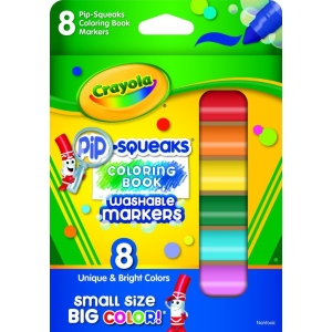 Crayola® Pip-Squeaks® Coloring Book 8-Color Marker Set: Multi, (model 58-8704), price per set
