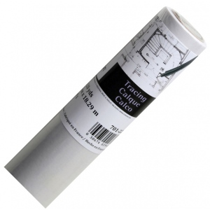 "Canson® Foundation Series 36"" x 20yd Tracing Roll: White/Ivory, Roll, 36"" x 20 yd, Smooth, (model C100510828), price per roll"