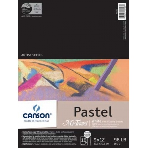 "Canson 9"" x 12"" Wire Bound Pad White and Glassine"