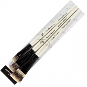 Daler-Rowney Simply Simmons Bold & Beautiful 3-Brush Set: Synthetic Bristle, Acrylic, (model SS255300002), price per set
