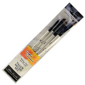 Daler-Rowney Simply Simmons All The Angles 4-Brush Set: Synthetic Bristle, Acrylic, (model SS255400006), price per set