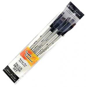 Daler-Rowney Simply Simmons Petal Pushers 5-Brush Set: Synthetic Bristle, Acrylic, (model SS255500008), price per set