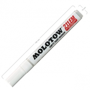MOLOTOW™ 4mm Round Tip Empty Marker: Paint, Refillable, 2mm, Paint Marker, (model M211000), price per each