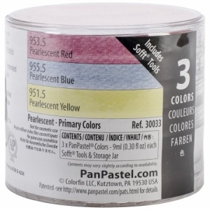 PanPastel Ultra Soft Artists' Painting Pastel Pearlescent Primary Color Set