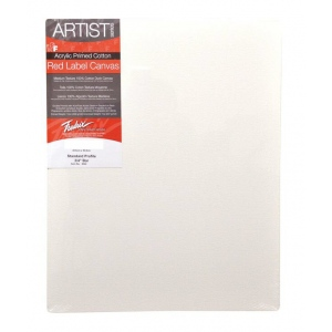 "Fredrix® Artist Series Red Label 5"" x 7"" Stretched Canvas: White/Ivory, Sheet, 5"" x 7"", 11/16"" x 1 9/16"", Stretched, (model T5007), price per each"